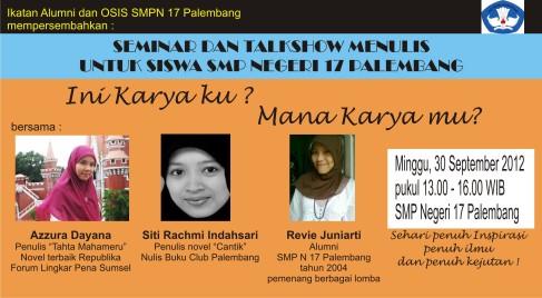 Kerjaan Alumni SMP 17 Palembang