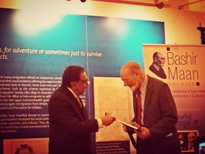 Bashir Maan received Honour Gift from UK councillor