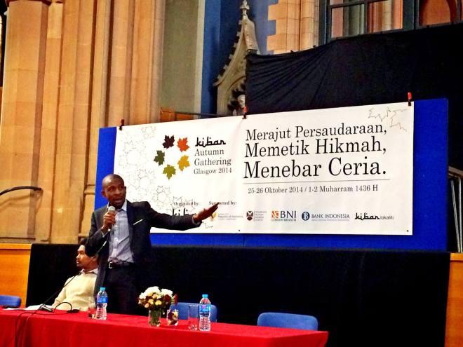 Ust. Hakeem Yusuf, University of Strahclyde, Glasgow. Spoke about Hijrah as a sacrifice